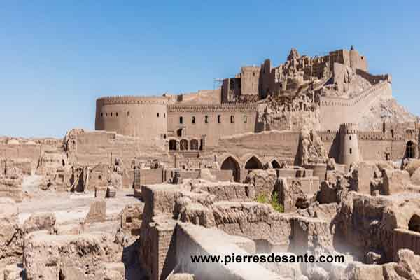 citadelle de Bam en Iran est la plus grande structure en adobe du monde